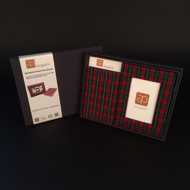 notebook and photo frame gift set